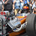2019 O'Reilly Street Machine Nationals - The Spaghetti Guys Racing Team Front Engine Dragster Warm Up